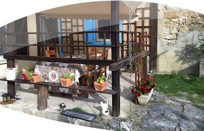 Location vacances maison Pereille: salon