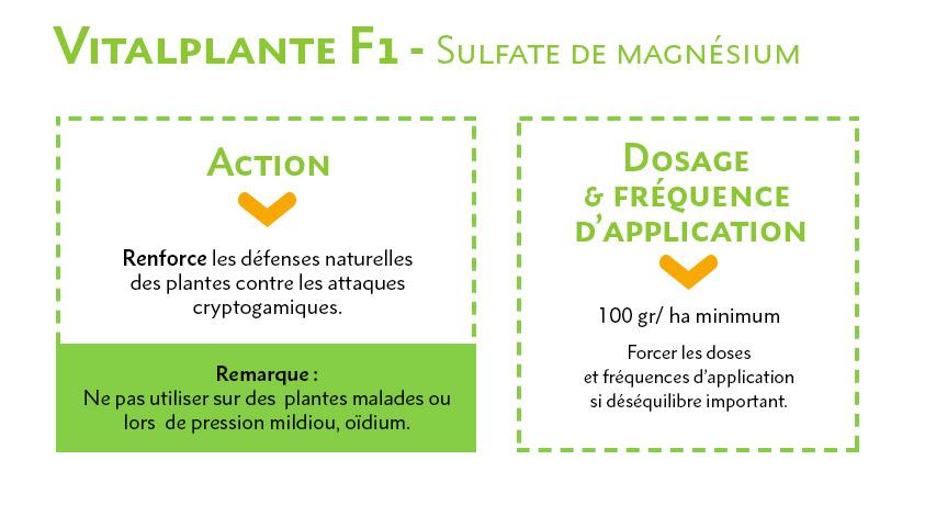 Vitalplante F1 - Sulfate de magnésium